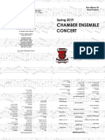Chamber Concert Program Template Booklet