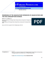 Panorama of the Aquaculture Expansion and the Fish Consumption in Brazil