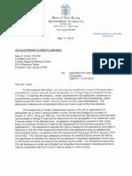Decision letter for Trinitas Regional Medical Center
