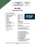 Silabus Gineco 2019 Ultm