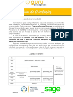 Guia Final de Orientações Para Empreendedores e Mentores - Guru de Negócios