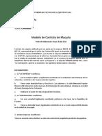 Modelo de Contrato de Maquila