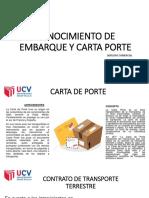 Carta de Porte y Conocimiento de Embarque