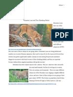 final mountain lion paper