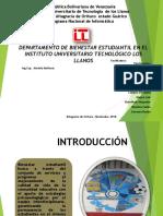Departamento de Bienestar Estudiantil en El Instituto Universitario
