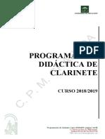 programacion didactica de clarinete . curso 2018-19.pdf