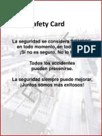 SAFETY CARD MODELO KALMAR