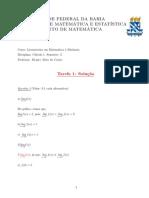 Resposta Da Tarefa 1- Cálculo i