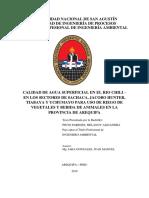 CALIDAD DE AGUA SUPERFICIAL EN EL RIO CHILI - EN LOS SECTORES SACHACA, JACOBO HUNTER, TIABAYA Y UCHUMAYO PATRA USO DE RIEGO DE VEGETALES Y BEBIDA DE ANIMALES EN LA PROVINCIA DE AREQUIPA.pdf