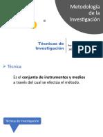 Tecnicas Investigacion