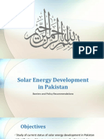 Solar Energy Development in Pakistan