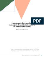 Mapeamento dos conselhos municipais de patrimônio cultural no estado de São Paulo - Rodrigo Modesto Nascimento
