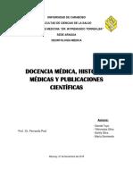 Docencia Medica, Historias y Publicaciones Cientificas Informe