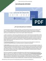 Bases Del Plan Nacional de Desarrollo 2018-2022