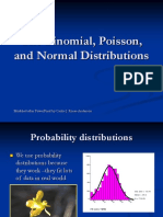 The Binomial, Poisson, And Normal Distributions