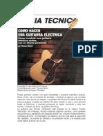 Construccion de Una Guitarra Electrica Prs
