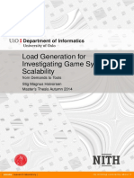 Load Generation for Investigating Game System Scalability