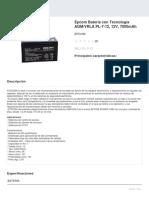 DATASHEET BATERIA 12 VCD EPCOM