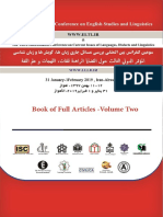 Book of Full Articles of The Annual International Conference on Languages, Linguistics, Translation and Literature