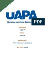 Tarea 5 Ingles 4 UAPA
