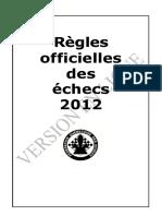 Règles officielles des échecs 2012