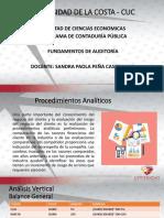 Fundamentos de Auditoría - Unidad 3 Procedimientos Analiticos