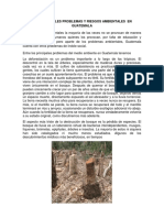 Los Principales Problemas y Riesgos Ambientales en Guatemala