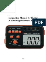 Manual Telurómetro VICTOR 4105A