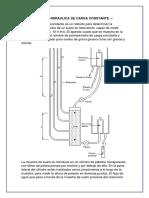 Conductividad Hidraulica de Carga Constante