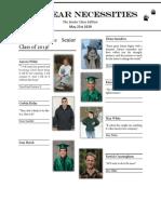 bear necessities 1 - senior class edition