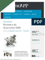 Sistema de Inyeccion GDI – MecanicAPP