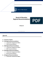 DPS Staff Recommendations to Board