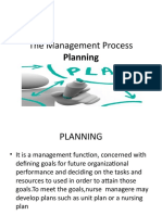The Management Process Planning