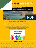 """Programa Electoral """"Calpedespierta"""""""