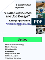 Week 10 SCA (Human Resources and Job Design)