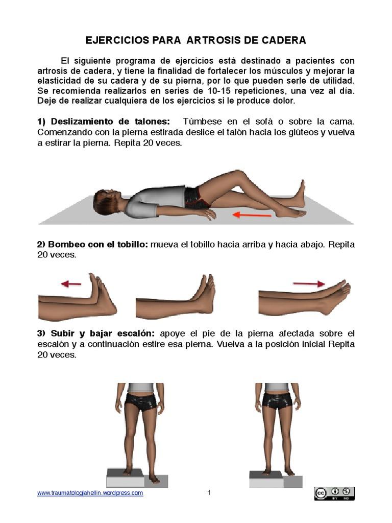 ejercicios para coxartrosis de cadera