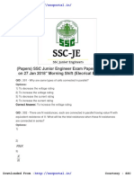 SSC JE question paper solved