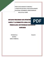 Estados Financieros de La Banca Comercial