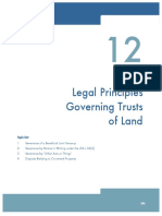 legal principles governing trusts of land