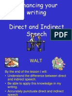 Direct Indirect Speech Sd