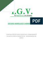 Estudio Hidraulico e Hidrologico IGV Del Tramo de via a Intervenir
