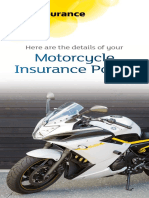 Motorcycle Insurance Policy