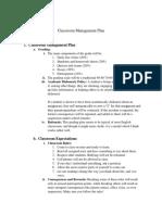 hasbun classroom management plan