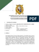 Organizacion y Administracion 2017 I PLAN 2014