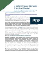 5 Program Dalam Inpres Gerakan Nasional Revolusi Mental
