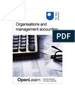 Organisations and Management Accounting