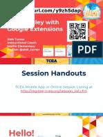 google extensions tcea 2019  1