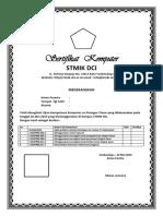 contoh sertifikat komputer
