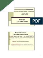 PrévisionsPlanification (Partie 1)