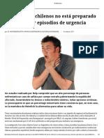 El 70% de Los Chilenos No Está Preparado Para Afrontar Episodios de Urgencia - El Mostrador